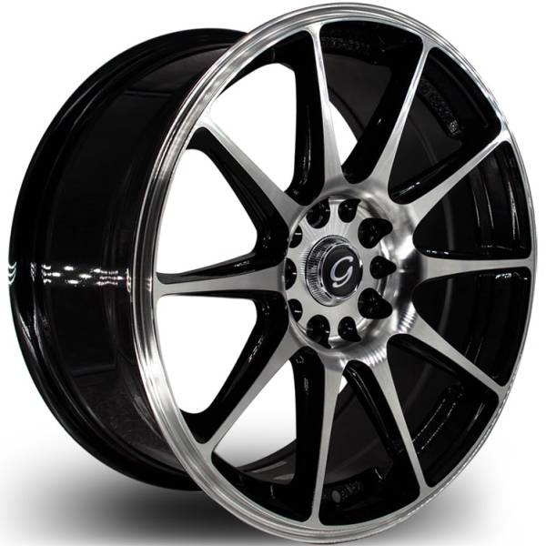 G-Line G0051 Machined Black Wheels
