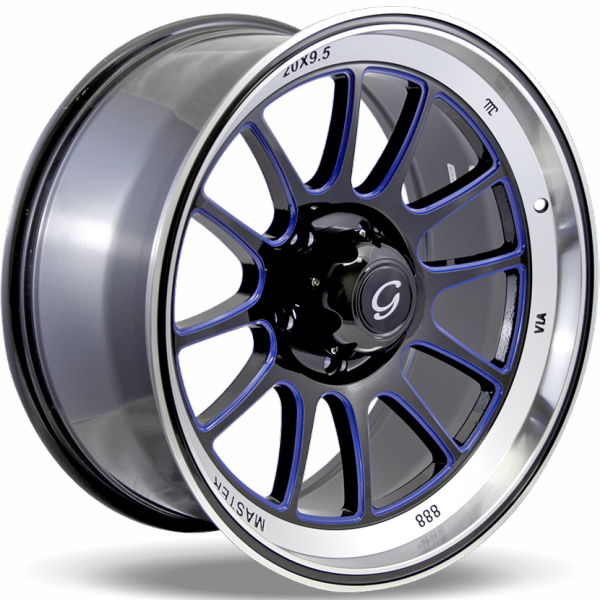 G-Line G0089 Black and Blue Wheels