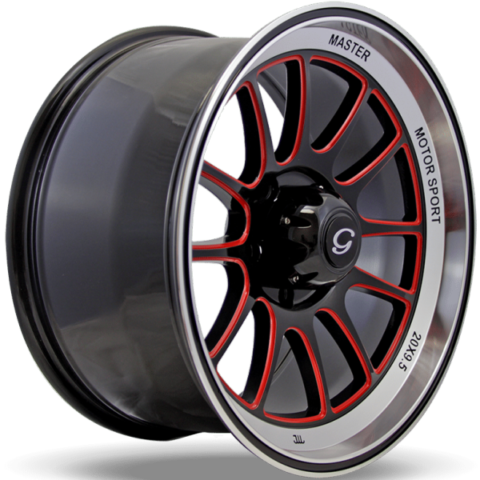 G-Line G0089 Black and Red Wheels