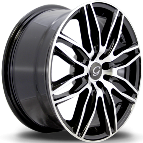 G-Line G1017 Machine Black Wheels