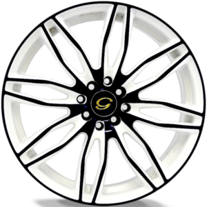 G-Line G1017 Black and White Wheels