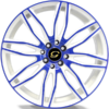 G-Line G1017 Blue and White Wheels