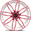 G-Line G1017 Red and White Wheels