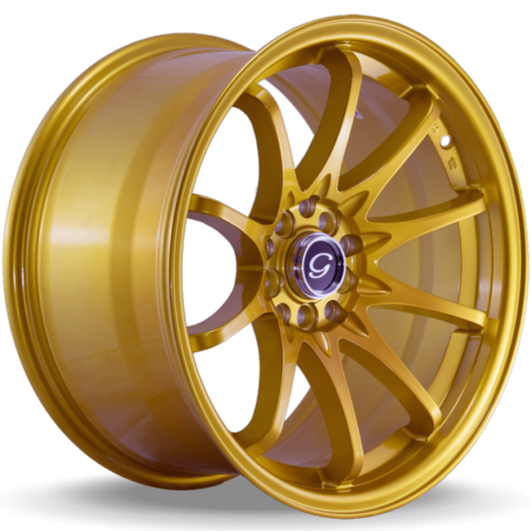 G-Line G1018 Metallic Gold Wheels