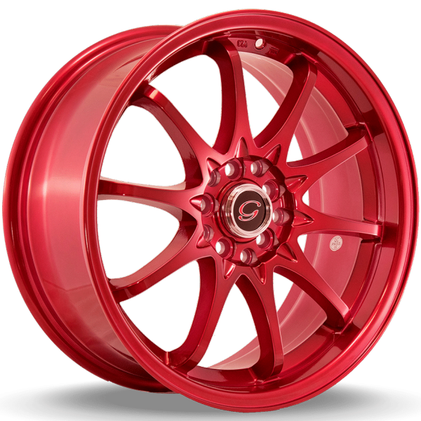 G-Line G1018 Metallic Red Wheels