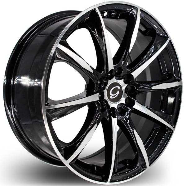 G-Line G1026 Black Machined Wheels