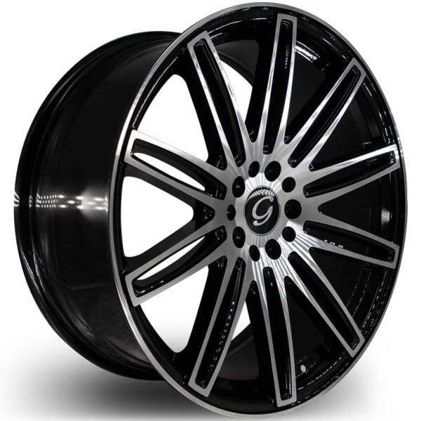 G-Line G1043 Machine Black Wheels