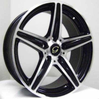 G-Line G253 Black Machined Wheels