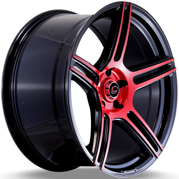 G-Line G5086 Red and Black Wheels