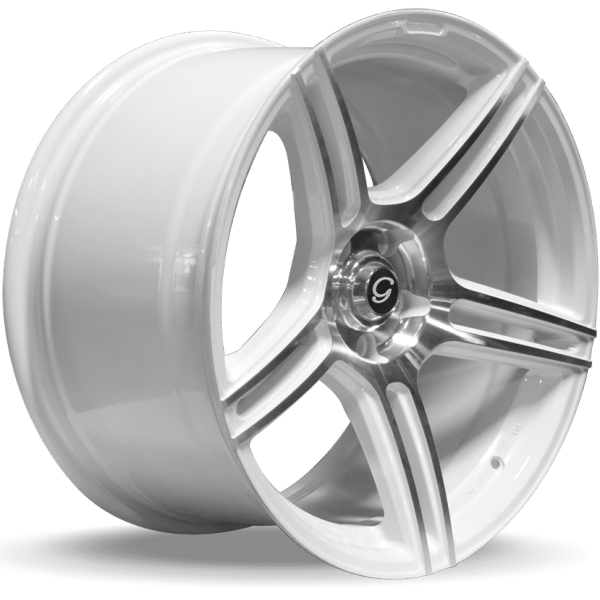 G-Line G5086 White Machined Wheels