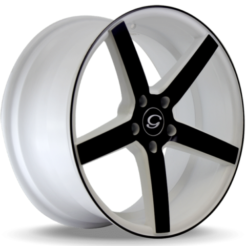 G-Line G5178 Matte Black and White Wheels