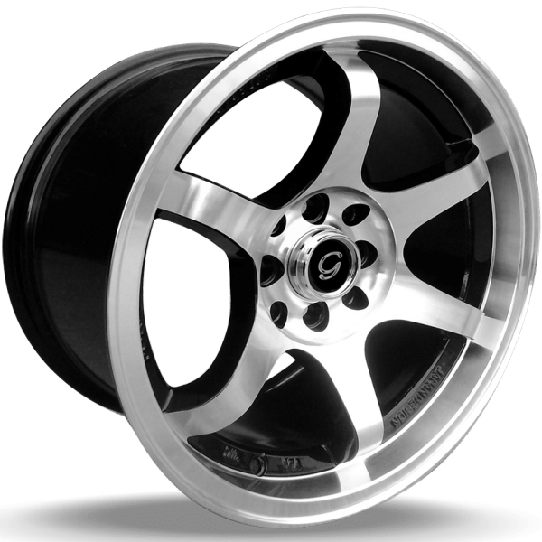 G-Line G6011 Machined Wheels with Black Windows