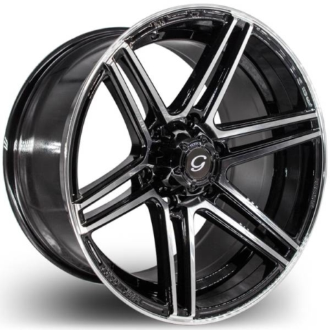 G-Line G6013 Black Machined Wheels