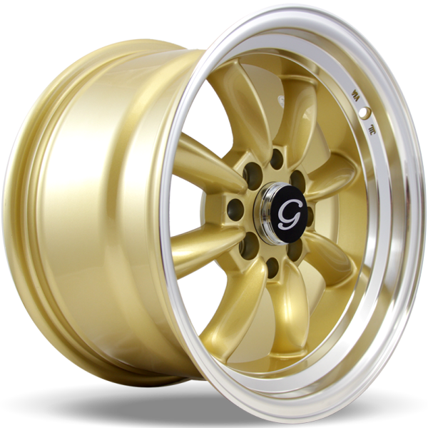 G-Line Wheels G8014 Gold with Machined Lip