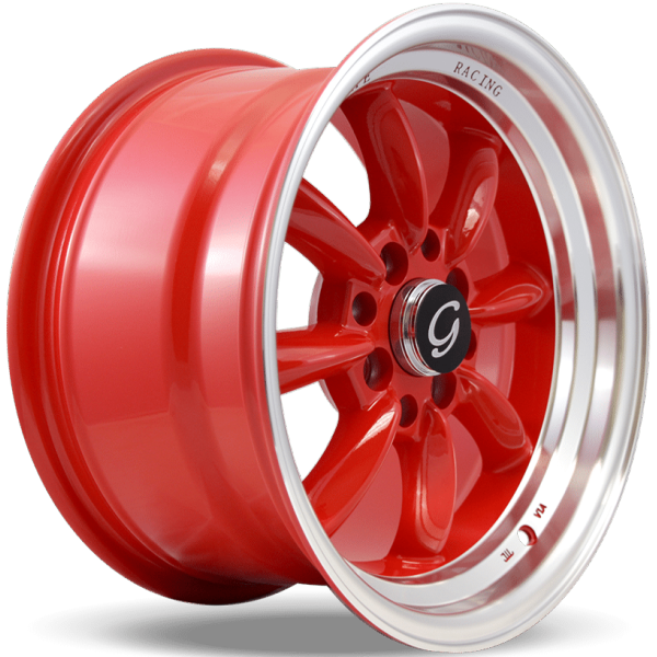 G-Line Wheels G8014 Red with Machined Lip