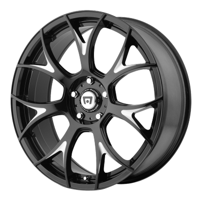 Motegi MR126 Gloss Black Milled Wheels