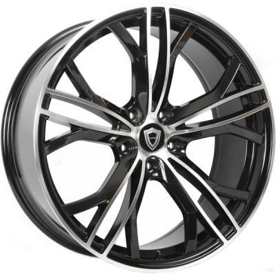 Capri 5189 Black Machined Wheels