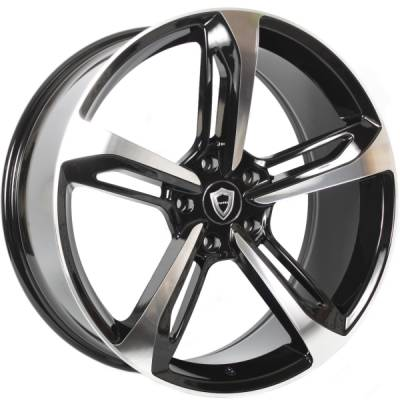 Capri 5191 Black Machined Wheels