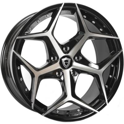 Capri 5194 Black Machined Wheels