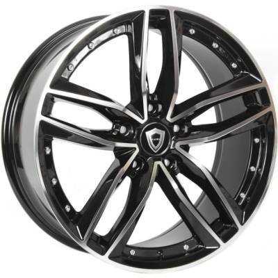 Capri 5228 Black Machined Wheels
