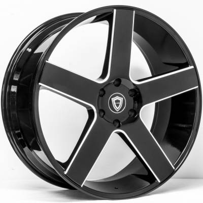 Capri 5288 Black Milled Wheels