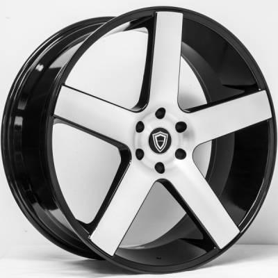Capri 5288 Machine Black Wheels