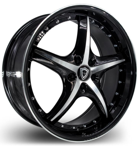 Capri 5193 Black Machined Wheels