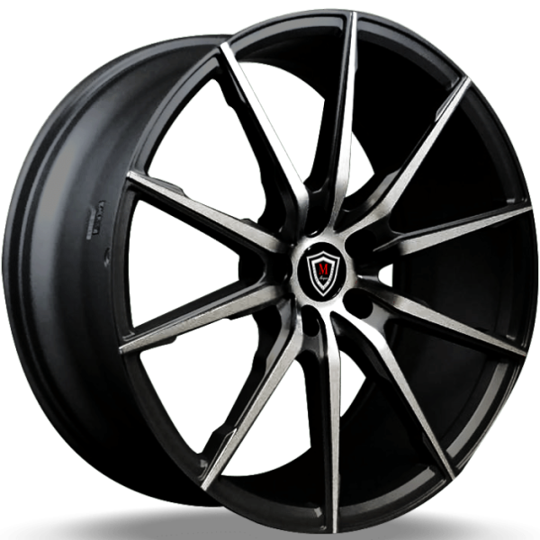 Marquee M1035 Black Machined Wheels