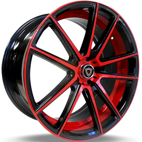 Marquee M3197 Red and Black Wheels