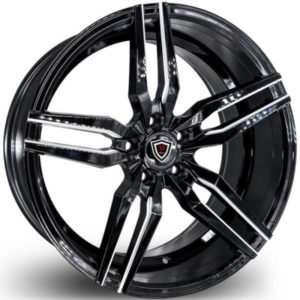 Marquee M3216 Black Milled Wheels