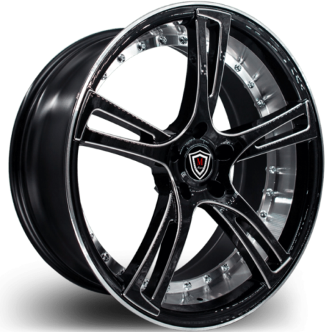 Marquee M3247 Black Machined Wheels