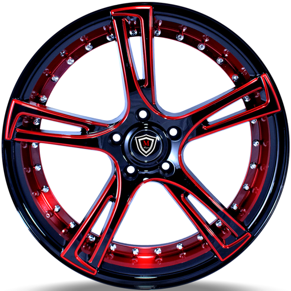 Marquee M3247 Red and Black Wheels