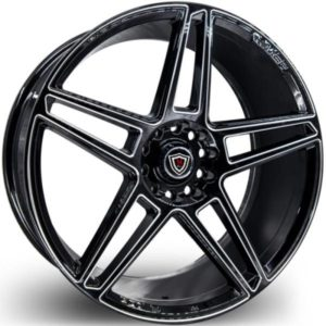 Marquee M3764 Black Milled Wheels