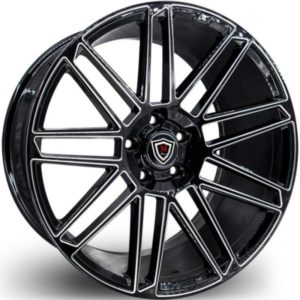 Marquee M3767 Black Milled Wheels