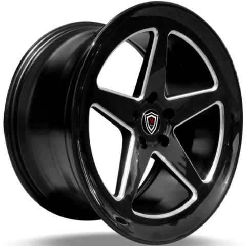 Marquee M9535 Gloss Black Milled Wheels