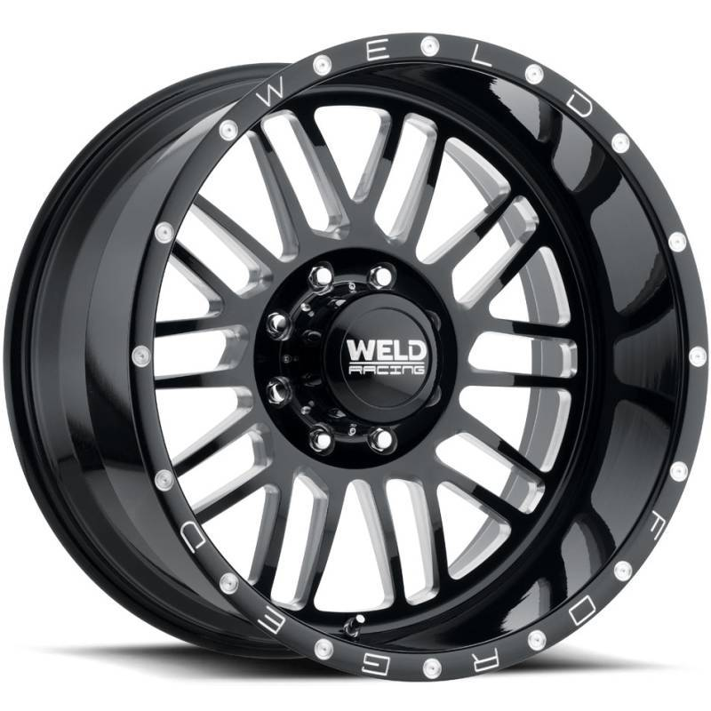 Weld Konflict 8 Gloss Black Milled Wheels