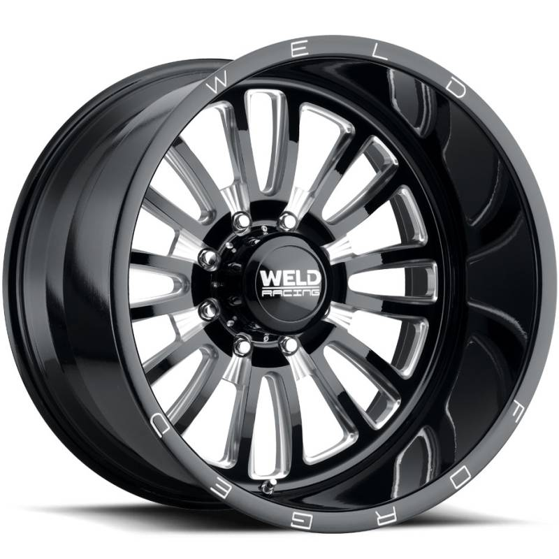 Weld Vector 8 Gloss Black Milled Wheels