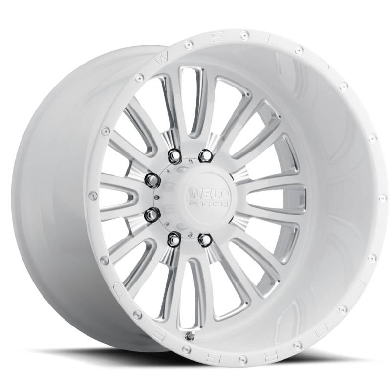 Weld Vector 8 Gloss White Wheels