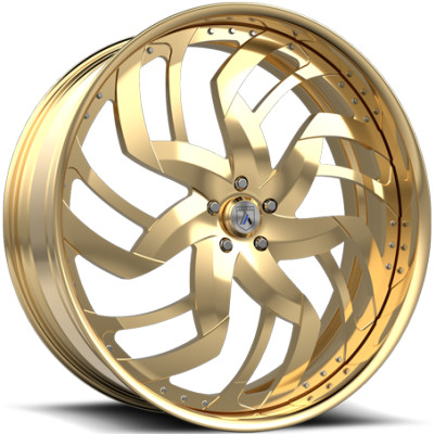 Asanti FS19 Gold Wheels