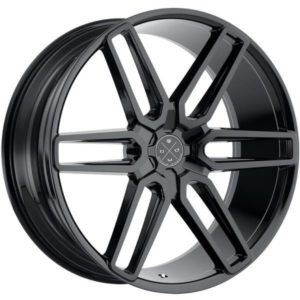 Blaque Diamond BD17 Gloss Black Twin 6-Spoke