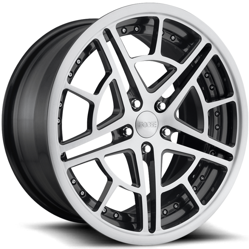 Foose Mach One F234T Brushed Gloss Black Wheels