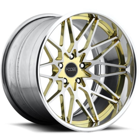 Foose Phoenix F451 Brushed with Transparent Brass Accents