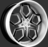 Lexani LF-110 Custom White and Black Wheels