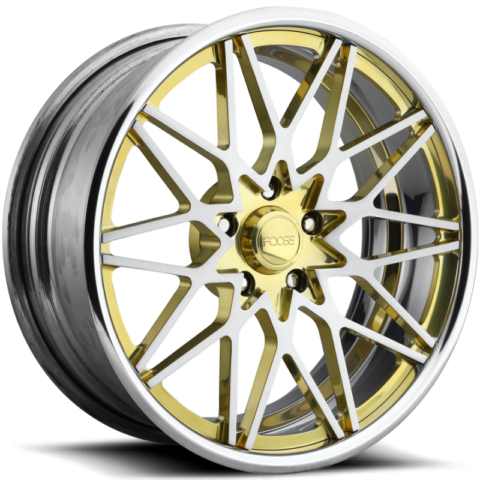 Foose Phoenix F251 Brushed with Transparent Brass Accents