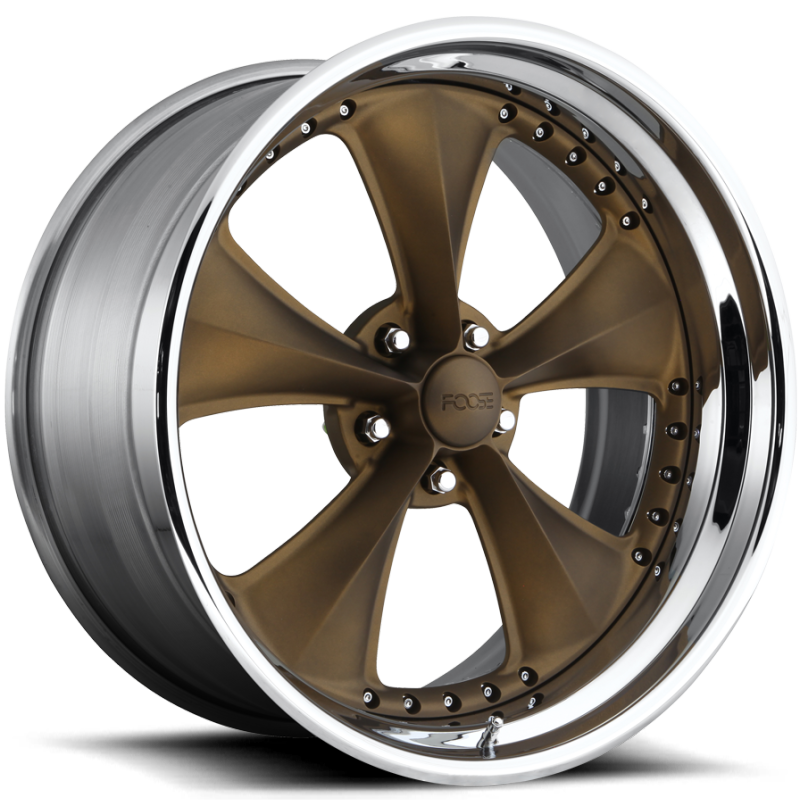 Foose Nitrous X F217 Satin Bronze with Chrome Step-Lip