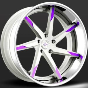 Lexani LC-109 White with Purple Tips