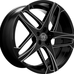 Lexani Bavaria Black Milled Wheels