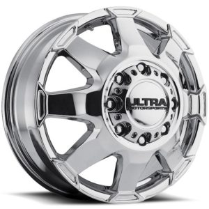 Ultra Type 025 Phantom Chrome Front Dually Wheels