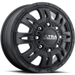 Ultra Type 049 Predator Satin Black Front Dually Wheels