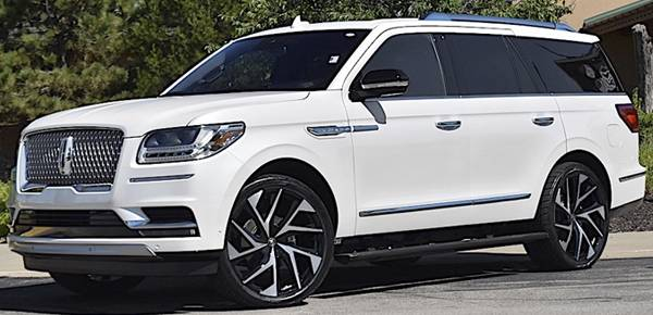 2019 Lincoln Navigator on Lexani Ghost Machine Black Wheels